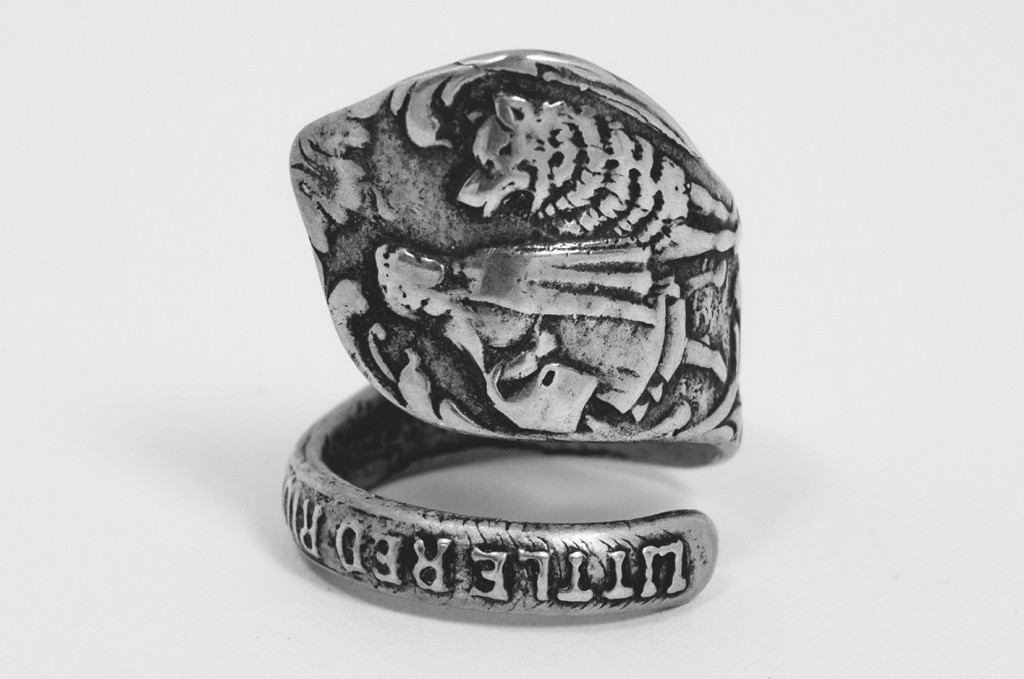 Kimberlin Silver Co Spoon Ring